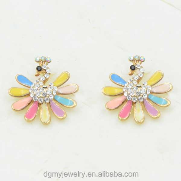 One Gram Gold Earrings Designs Jewelry Rhinestone Women Fashion ...