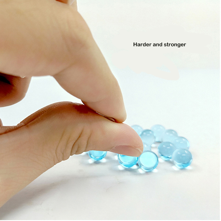 high quality milky white water crystal bullet, water gel ball, electric absorbent crystal gel ball
