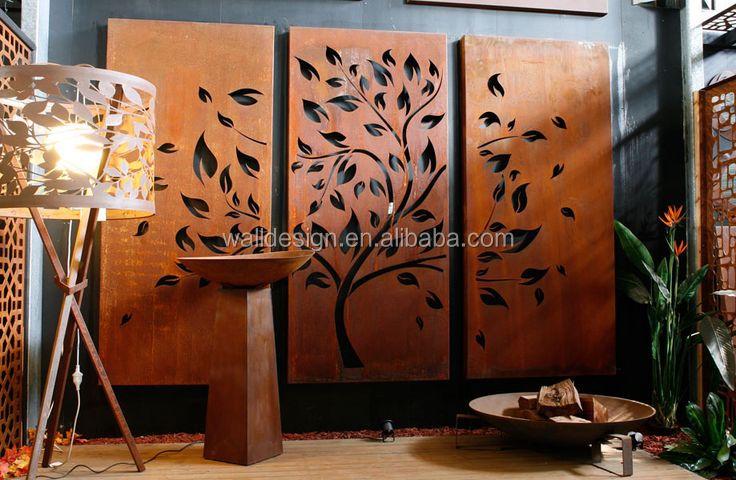 panneaux métalliques perforés décoratifs en acier corten