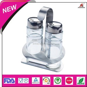 2016 new product glass salt and pepper cellar