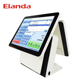 White color 15inch pos pc touch screen Android Pos Terminal Financial Dual screen all in one touch screen pos