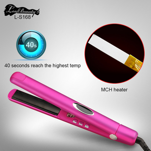 Hot selling professional beauty hair makeup LED display digital smart hair straightener and dryer