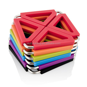 Creative stainless steel silicone pot holder silicone trivet