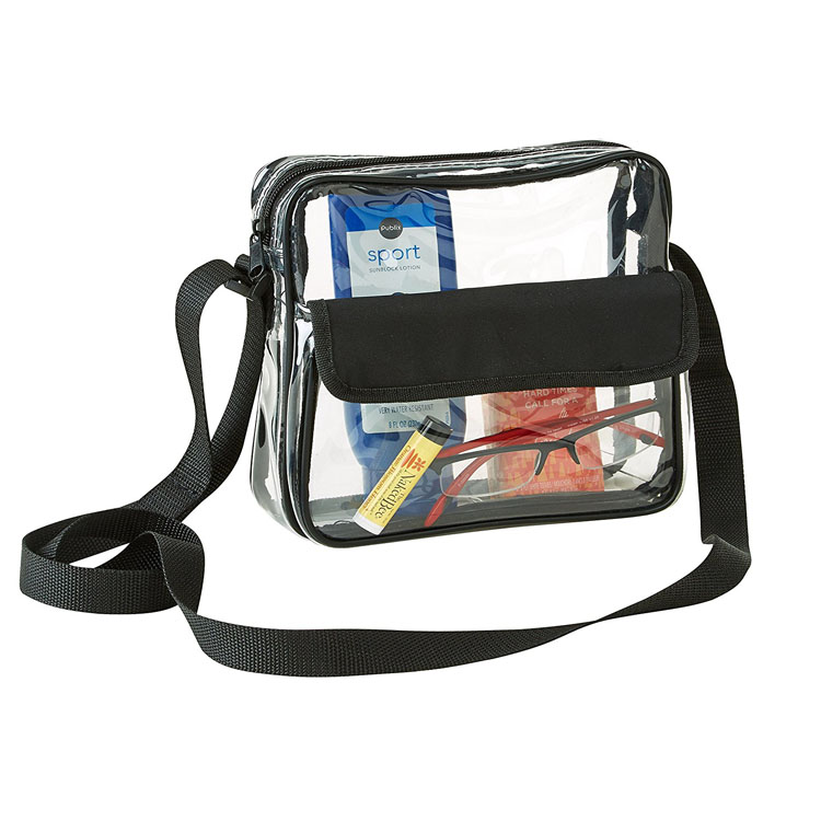 Clear Woman Purse Cross-Body Messenger Shoulder Bag Mini Sport Bag