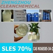 Clean Chemical SLES 70% drum packing 19.38MT one 20 foot container
