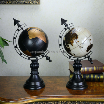 Good Usa Globe Tobletop Decor For Import Home Decor With White Black