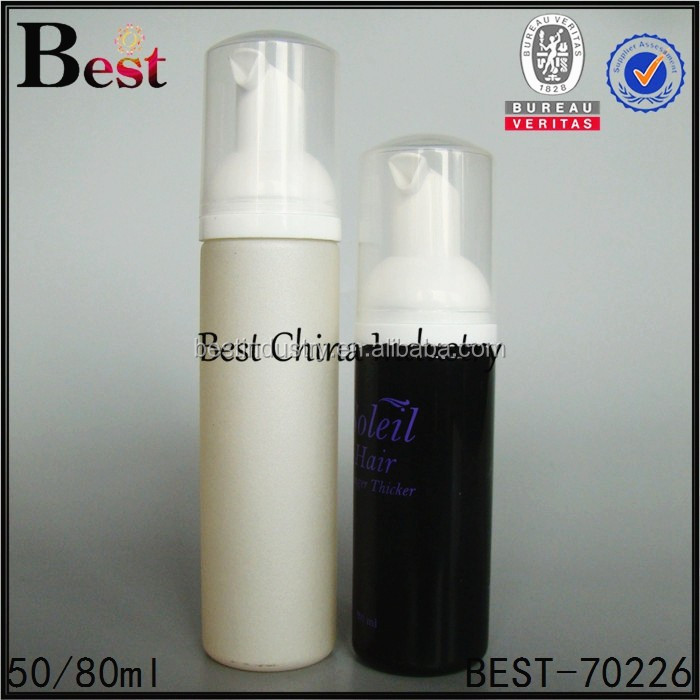 Wholesale refillable black and grey body cheap plastic bottles, custom design pump good packaging bottle-50/80ml for water