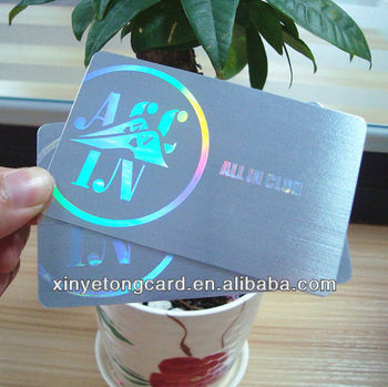 Plastic metallic foiling business card foil silver buy metallic plastic metallic foiling business card foil silver reheart Choice Image