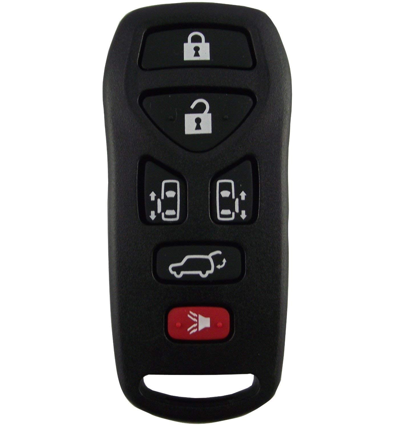 Replacement Keyless Remote Fob Key Shell Case For 2004 2005 2006 2007 2008 2009 Nissan Quest 6 button key shell KBRASTU51