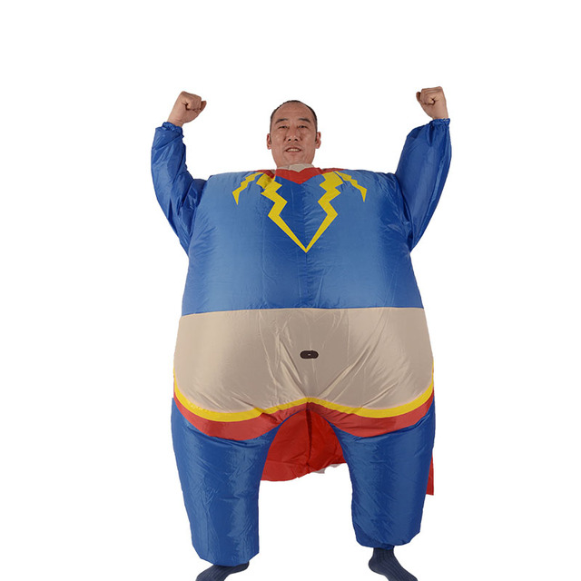 Adult Inflatable cosplay superman costume