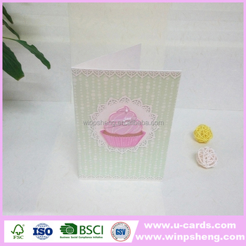 Gem And Ribbon Decoration Handmade Happy Birthday Greeting Cards For Husband