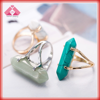 Six Angle fashion jewelry rings exotic color changing jewelry (QXRG160017)
