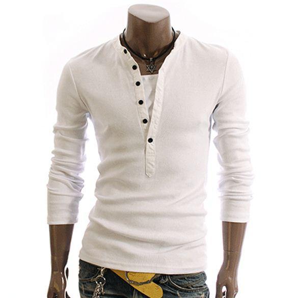 Stylish Casual Long Sleeve Men Fashion T Shirt 3748 - Buy ...