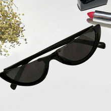 2018 Unique Half Frame Women Cat Eye Sunglasses Brand Designer Fashion Ladies Pink Tint/Clear Lens Shades trendy sunglasses