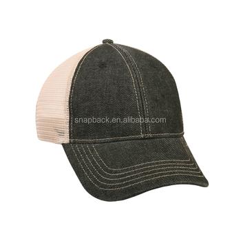 b9a9dec5bd40e Wholesale Vintage Denim Plain Mesh Trucker Cap Hats - Buy Jeans ...