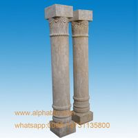 Custom Design Outdoor Antique Limestone Column