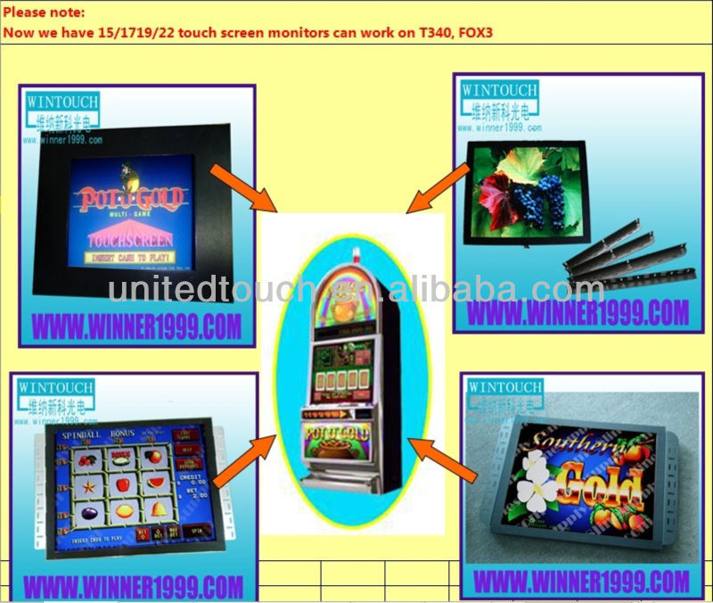 15 inch general touch open frame Monitor Industry control system lcd Monitors