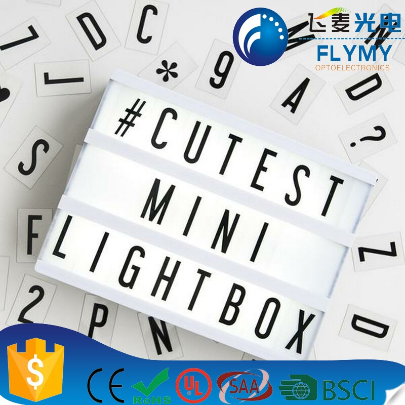 A4 A5 Color Changing Cinema Light Box Rechargeable Light Box Cinematic Light Box