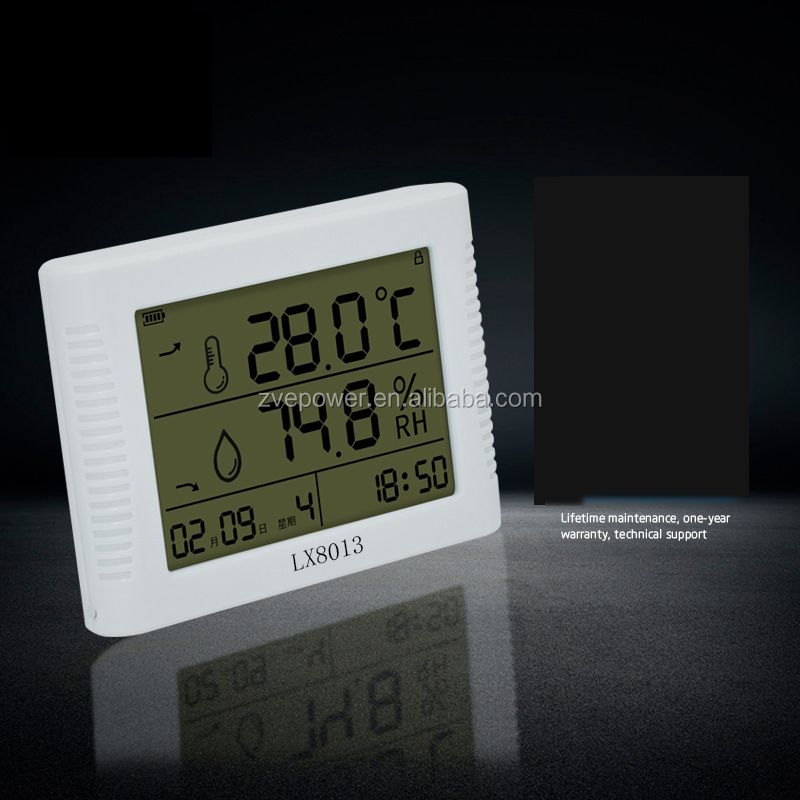 New Industrial LCD Screen Indoor Temperature and humidity Clock