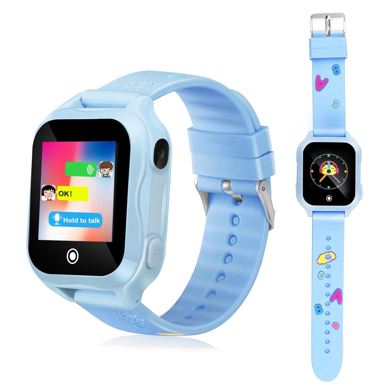 Kids Phone Smart Watch, GPS Tracker Smart Watches for Children Girls Boys 1.44inch Touch Screen Camera Waterproof SOS WiFi Smart Cell Phone Watch