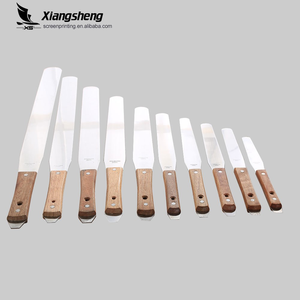 Stainless steel ink spatulas/knifes for screen printing