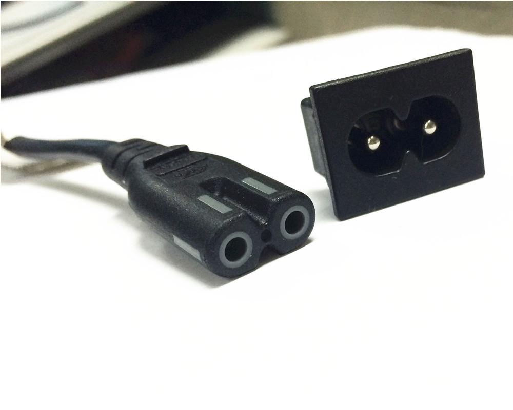 Männlichen draht elektrische kabel c7 zu c8 stecker-Vermittler ...
