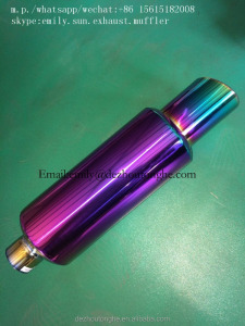 high performance stainless steel titanium color exhaust muffler,hot sale