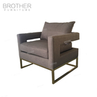 Ali baba new products Accent chairs furniture gold occasional chairs metal accent chair