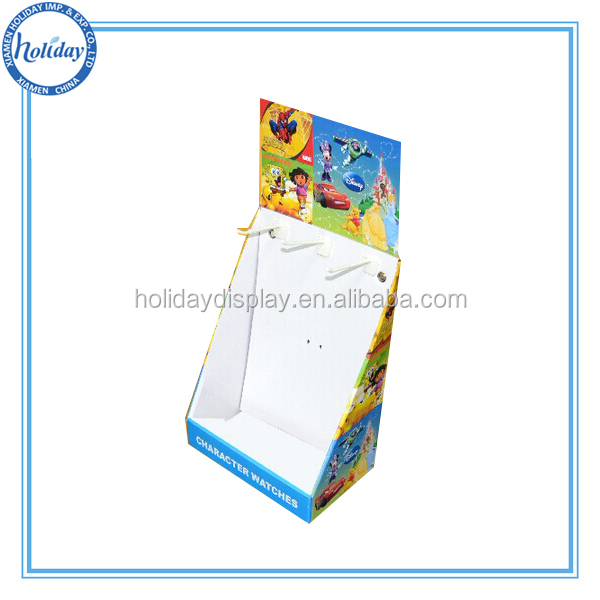 Paper,paper material table counter display for watches, hooks counter display
