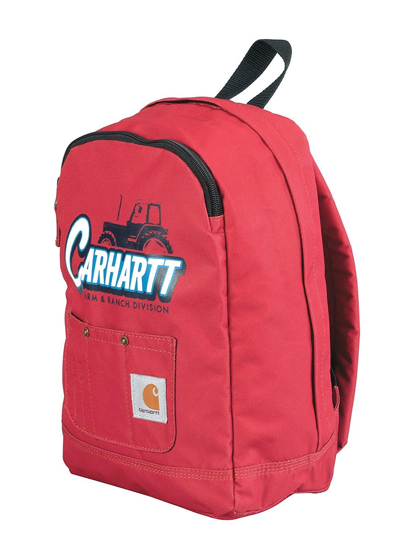 52a8b1b56 Buy Carhartt Junior Kids Bib-Pocket Backpack, Red Tractor in Cheap ...