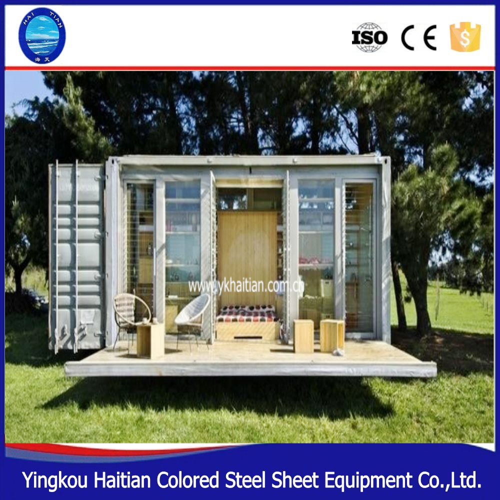 20ft 40ft spedizione contenitore prefabbricato casa con discesa lato altri macchine impianti - Prefabbricato casa ...