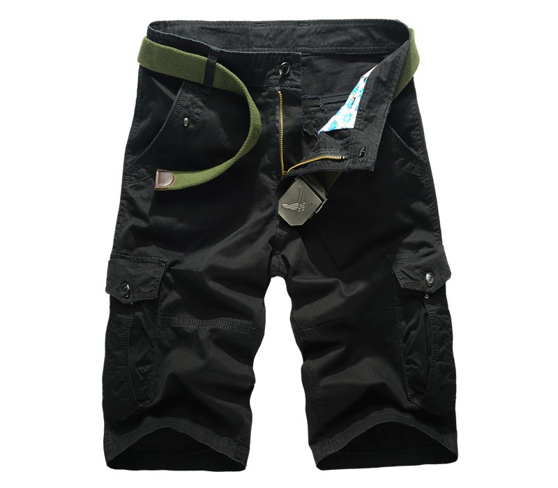 2f9b6accad08 Military Men Cargo Shorts Bermuda Summer Man Jogger Sport Pocket Shorts  Stylish Men Classic Fit Cotton