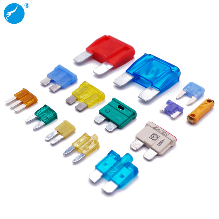 ROHS High quality 1A to 100A maxi standard mini micro2 micro3 auto fuse low profile vehicle auto blade fuse car fuse