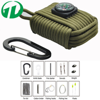 Greenday 2016 new wholesale 550 fishing Tools paracord emergency survival gear for outdoor