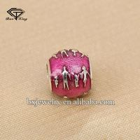 Wholesale suppliers unique design engravable sterling silver jewelry beads