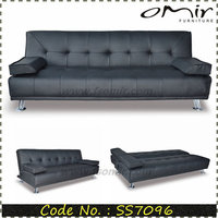 Modern living Room Long PU Leather Chesterfield Sectional Couch SS7096