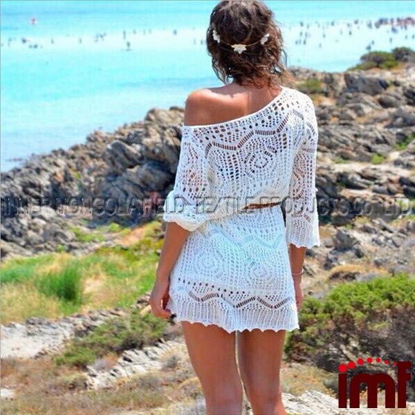89585438ed Women's Fashion Swimwear Crochet Tunic Cover Up / Beach Dress - Buy ...
