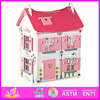 2015 fashion new kids wooden toy house,Luxury large wooden children toy house,hot sale baby wooden toy house set W06A051