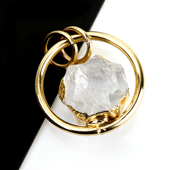 Handmade Jewelry Accessory 18k Gold Plated Pendant Natural Stone Accessory