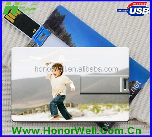 Promotional Slim Square Credit Card usb Flash Drive