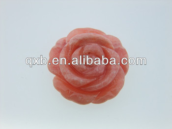 rose flower shaped jewelry lilac stone carved stone pendant buy