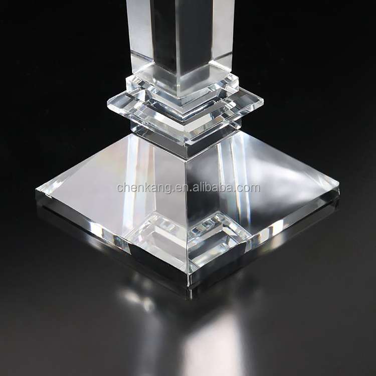 most popular single light pillar wedding european crystal candle holder