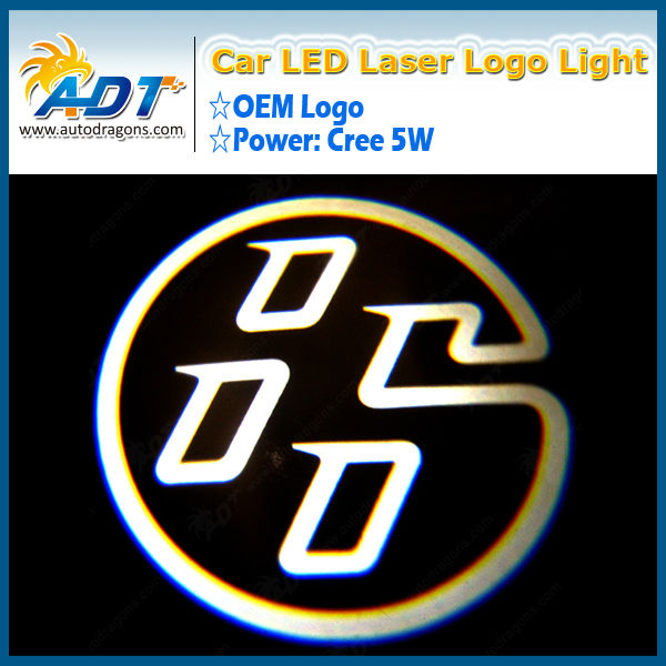 2013 New Car Logo Ghost Shadow door light Car Laser Film Car Logos with names for Volvo