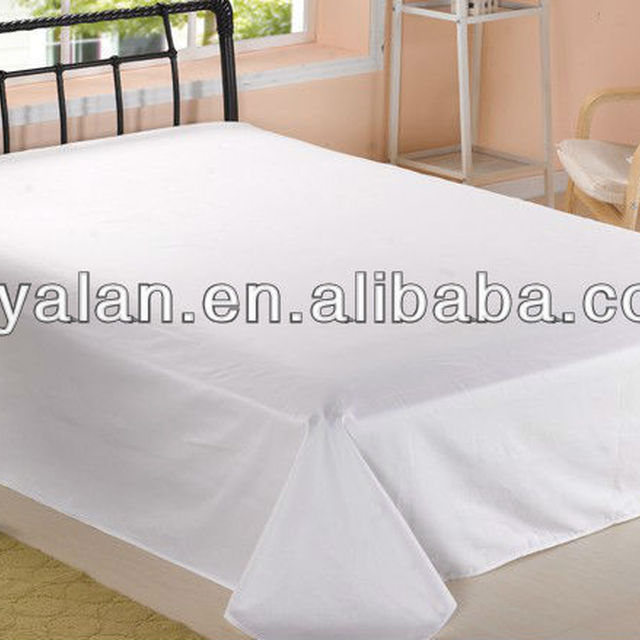 White Cotton Plain Bed Sheet For Hotels And Hospital
