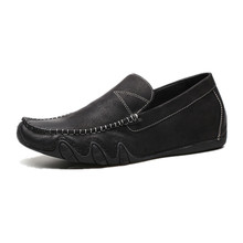Genuine leather branded designer italian casual men loafers shoes