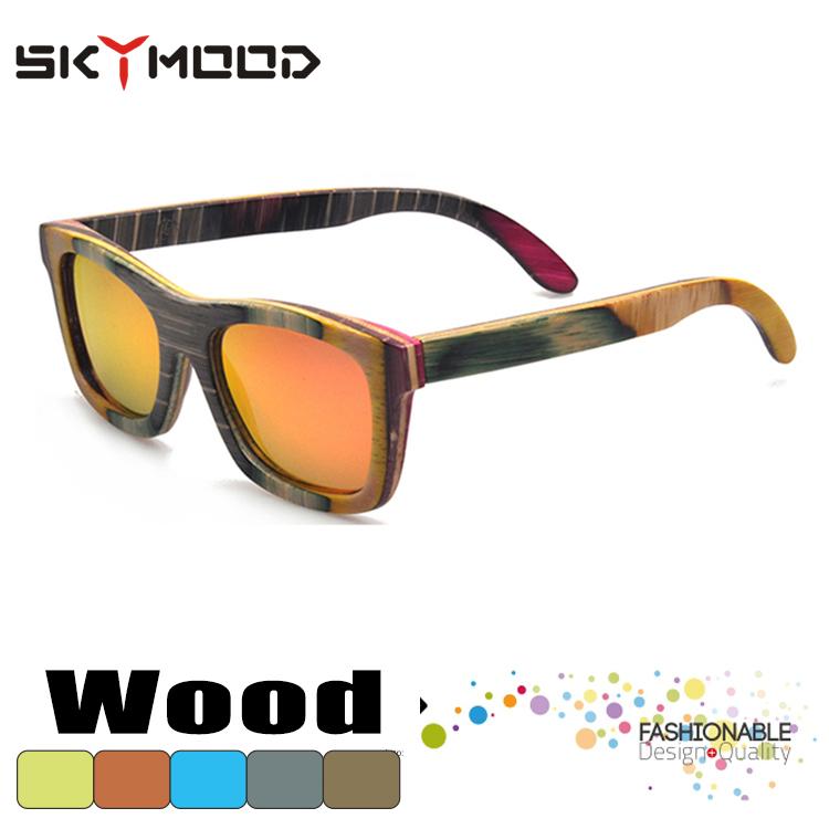 cuadrado gafas madera polarizadas para los hombres anteojos de sol de Bambú  gafas 10afa3ff09ec