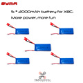 Syma X8C X8G X8W Battery 2000mAh x 5 PCS Spare Parts of Drones RC Helicopter LiPo