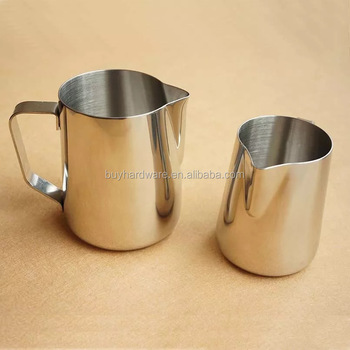 Kitchen Express Stainless Steel Craft Coffee Milk Latte Jug Frothing 100-1000ml