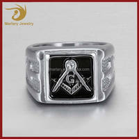 Wholesale Cheap Custom Antique Championship Ring Stainless Steel Masonic Rings