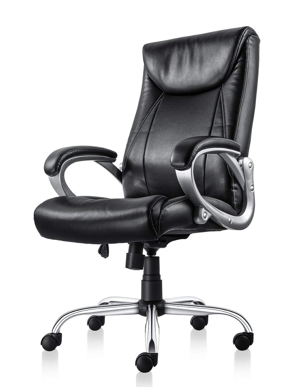 MDL Furniture High Back Executive Office Chair with Thick Padding Headrest and Armrest Heavy Duty Office Chair with Tilt Function Home Office Chair